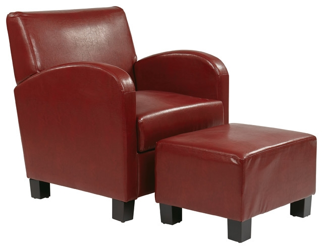 Innovative Red Accent Chair With Ottoman Living Room Apex Red Modern Accent Chairs Contemporary Leather