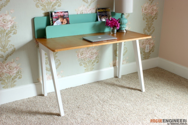 Innovative Simple Modern Desk Remodelaholic The Lindsay Desk A Simple Modern Desk With A