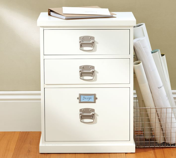 Innovative Small Filing Drawers Bedford 3 Drawer File Cabinet Pottery Barn