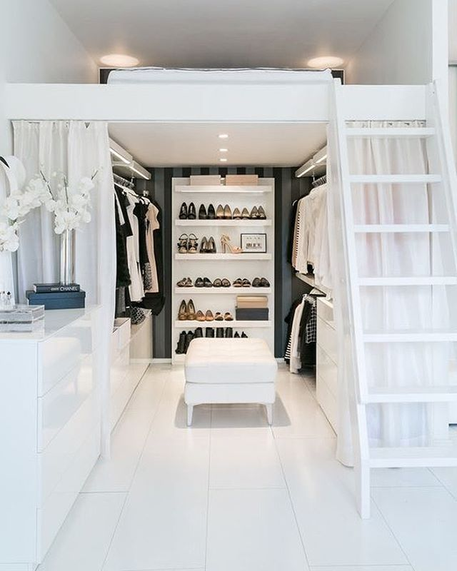 Innovative Small Walk In Closet Organization 75 Cool Walk In Closet Design Ideas Shelterness