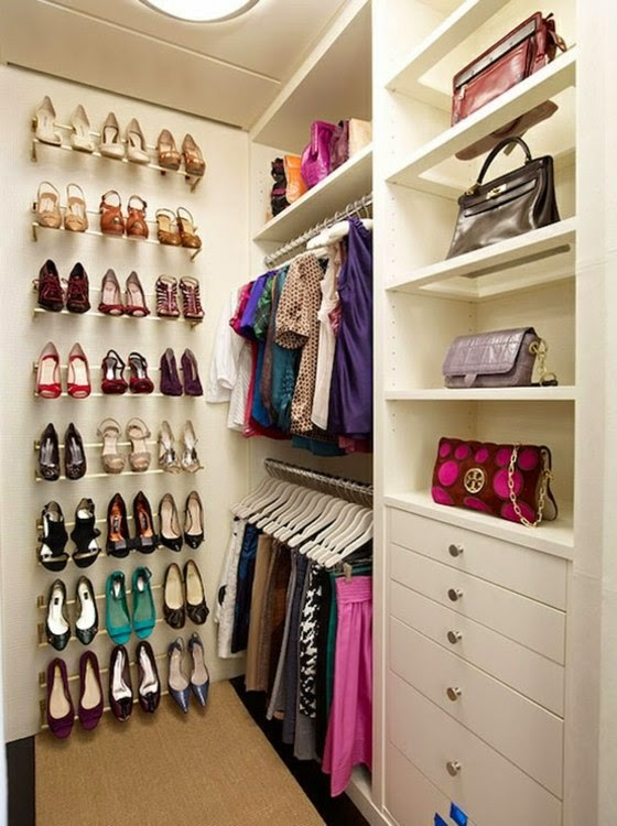 Innovative Small Walk In Closet Organization Narrow Walk In Closets Alluring Small Walk In Closet Ideas For