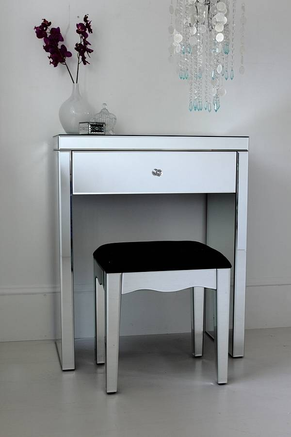 Innovative Small White Makeup Table Mini Mirrored Dressing Table Out There Interiors