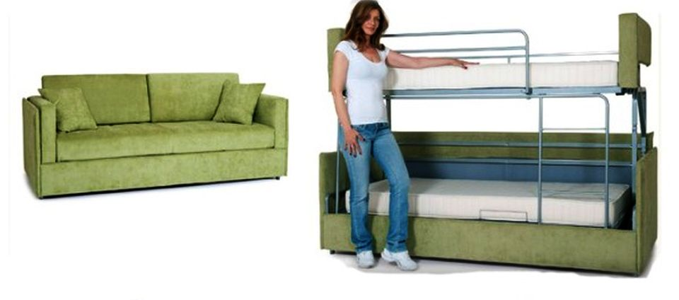 Innovative Sofa That Turns Into A Bed Coupe Sofa Turns Into A Comfy Bunk Bed In Just 14 Seconds Homecrux
