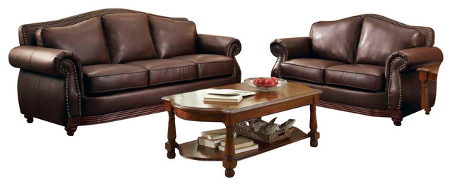 Innovative Three Piece Leather Living Room Set Homelegance Midwood 3 Piece Living Room Set In Dark Brown Leather