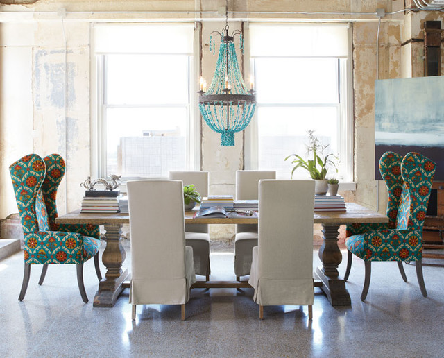 Innovative Upholstered Dining End Chairs Natural Table Eclectic