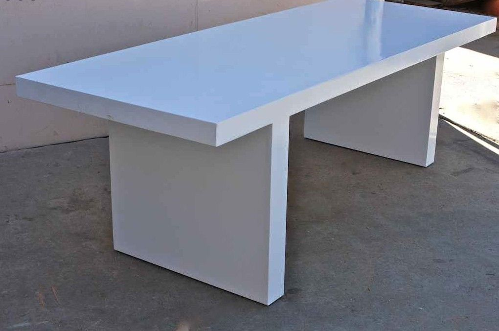 Innovative White Lacquer Dining Table Modern Hand Crafted White Lacquer Mid Century Modern Dining Table