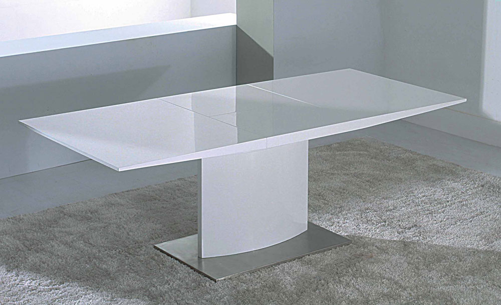 Innovative White Lacquer Dining Table Modern Modern Extendable White Lacquer Dining Table Cr2014 Modern Dining