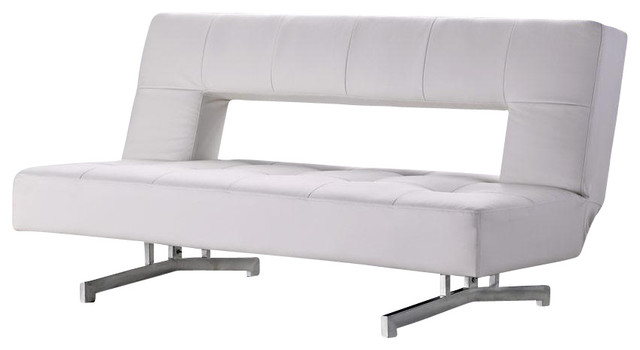 Innovative White Leather Futon Sofa 0926 White Eco Leather Sofa Bed Modern Futons New York