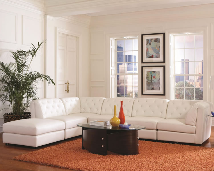 Innovative White Leather Sectional Ashley Furniture White Modular Sectional Sofa Modern Home Interiors How To