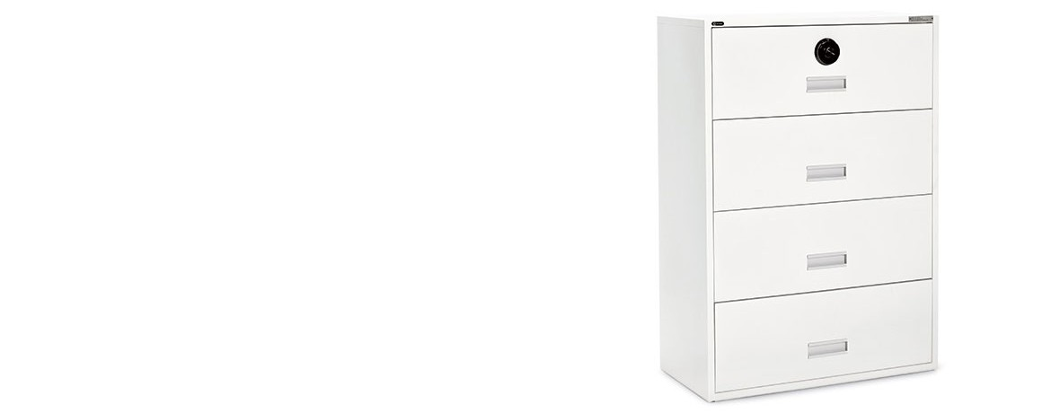 Innovative White Locking File Cabinet Lateral Integral Combination Lock Global Government
