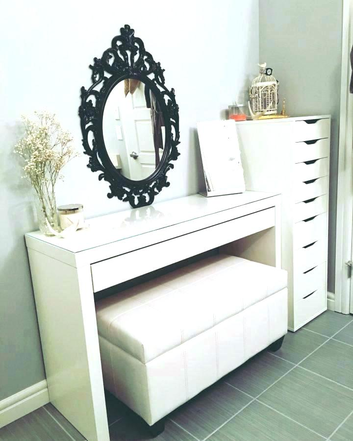 Innovative White Makeup Vanity With Storage Makeup Vanity With Storage Classic Broken White Makeup Vanity With