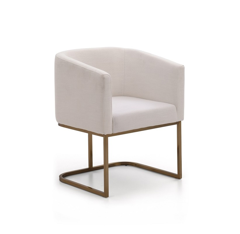 Innovative White Padded Dining Chairs Yukon Modern White Fabric And Antique Brass Dining Chair