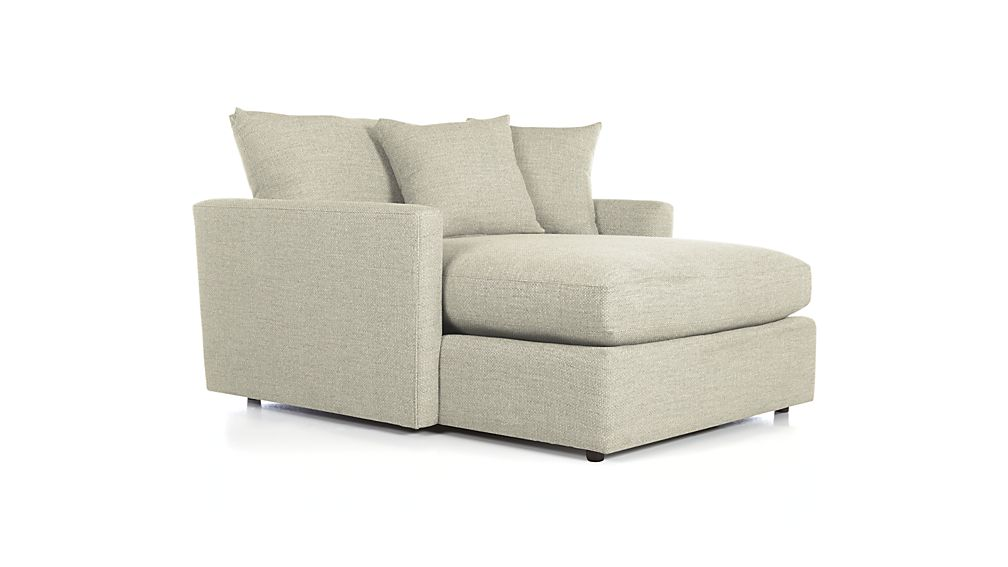 Lovable 2 Person Chaise Lounge Lounge Ii Petite Chaise Crate And Barrel