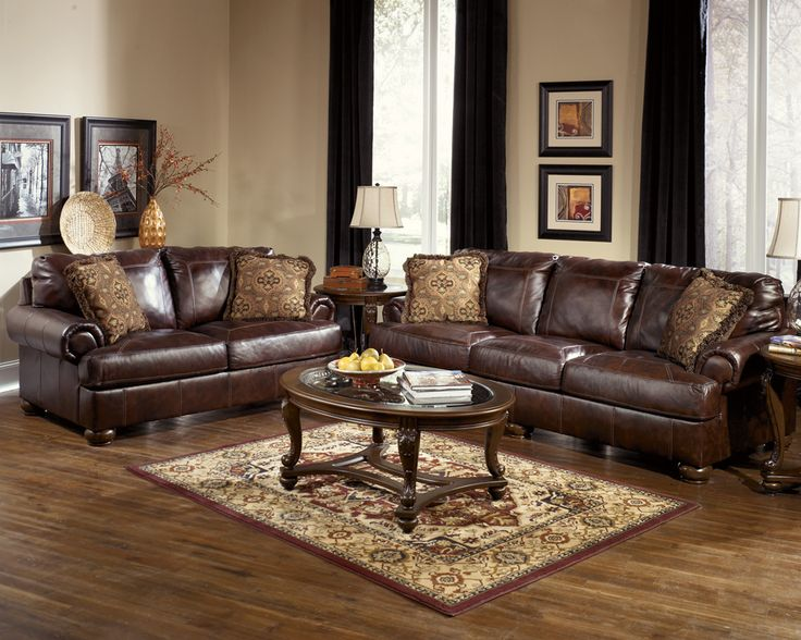 Lovable 2 Piece Leather Living Room Set Download Brown Leather Living Room Gen4congress
