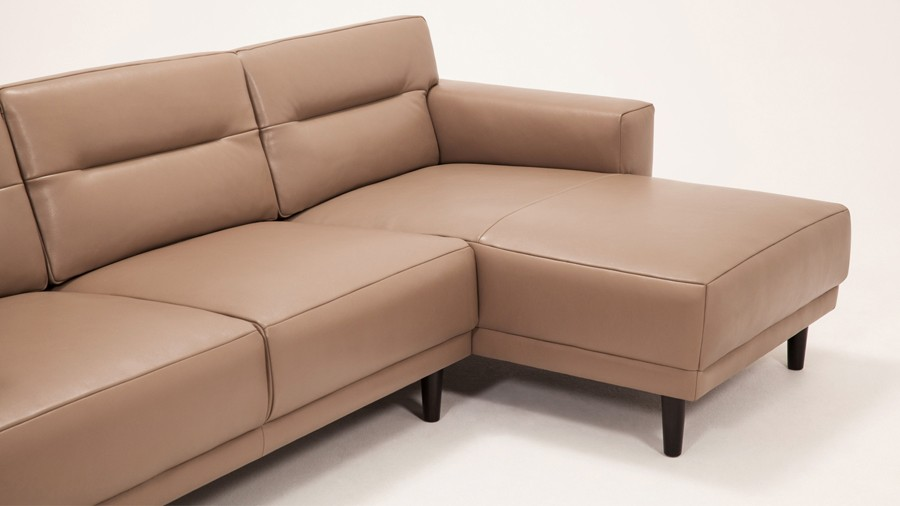 Lovable 2 Piece Sectional Couch Remi Leather 2 Piece Sectional Sofa With Chaise Viesso