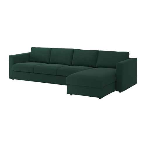 Lovable 4 Seater Sofa Ikea Vimle 4 Seat Sofa With Chaise Longuegunnared Dark Green Ikea