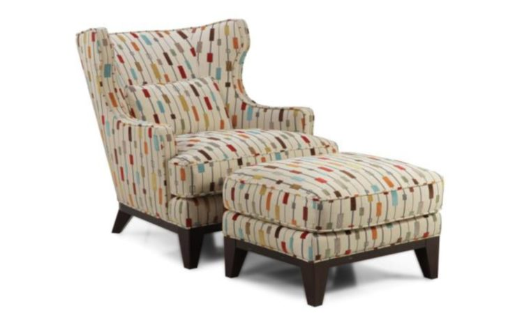 Lovable Accent Chairs With Arms And Ottoman Furniture Living Room With Wingback Accent Chairs Plus Ottoman
