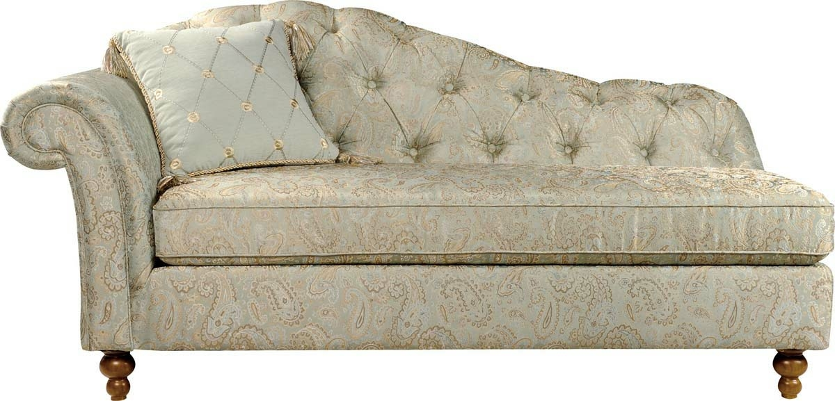 Lovable Accent Chaise Lounge Chairs Elegant Traditional Style Upholstered Curved Golden Toned Accent