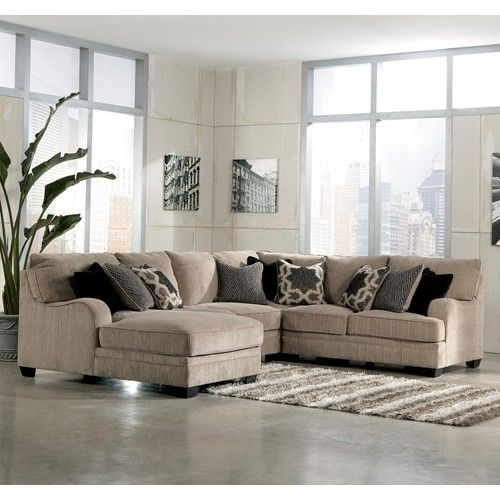 Lovable Ashley Furniture Chenille Sofa Signature Design Ashley Furniture Katisha Platinum 4 Piece