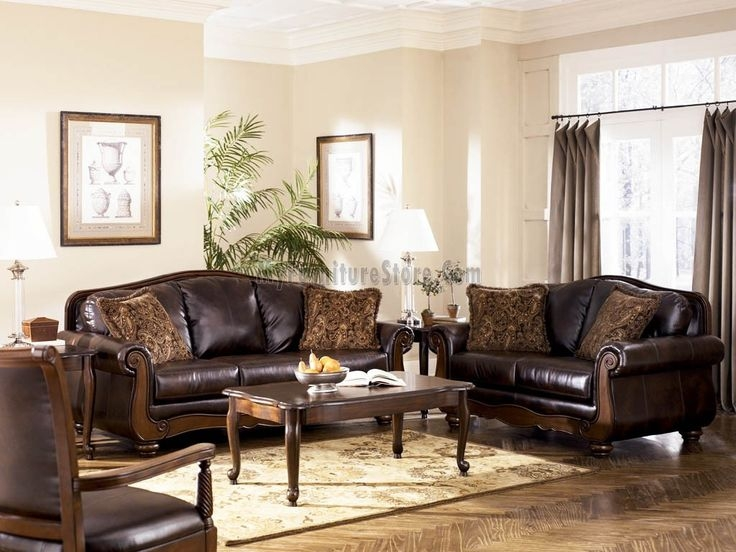 Lovable Ashley Furniture Leather Living Room Sets Living Room Perfect Ashley Furniture Sets Leather Amazing Of