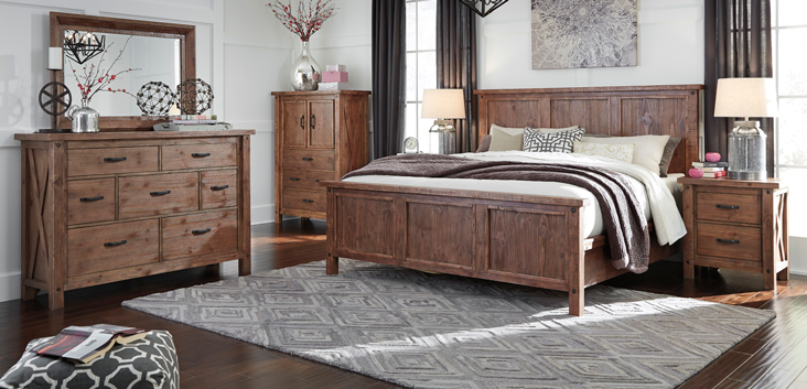 Lovable Ashley Furniture Wood Bed Ashley Furniture Tamilo Bedroom Collection
