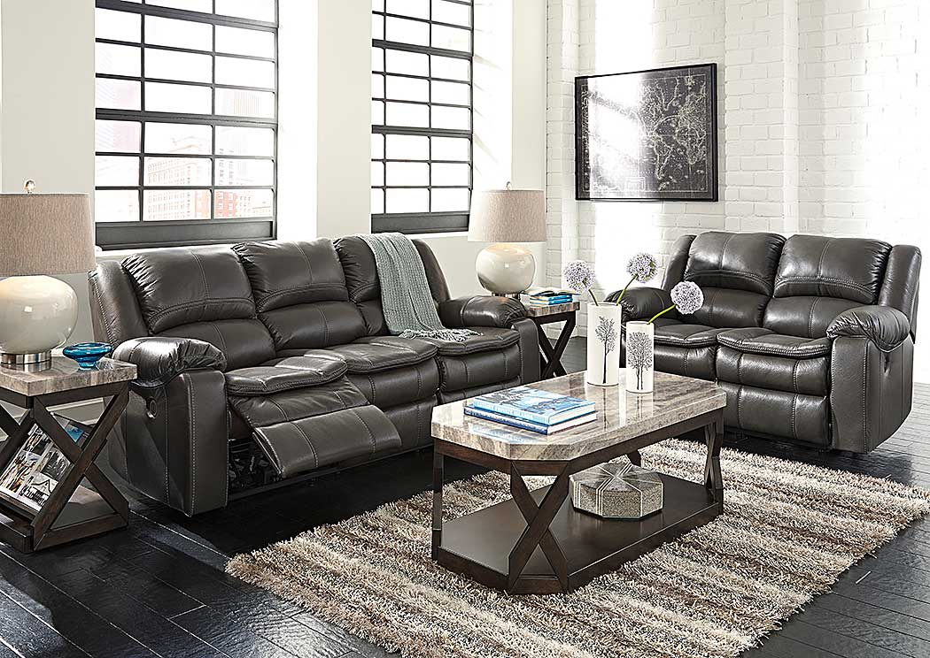 Lovable Ashley Gray Leather Sofa World Furniture Long Knight Gray Reclining Power Sofa Loveseat