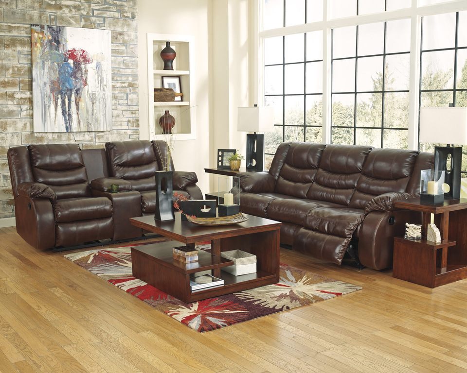 Lovable Ashley Leather Reclining Sofa And Loveseat View Our Living Room Furniture Selection