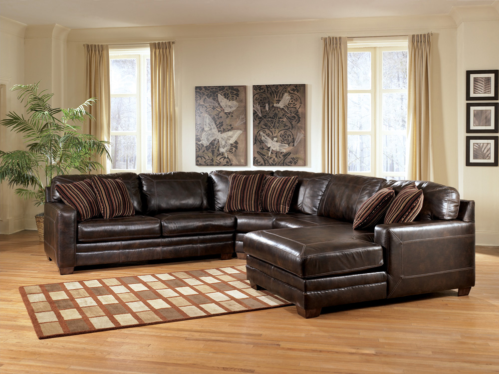Lovable Ashley Leather Sectional Sofa Ashley Leather Living Room Furniture S3net Sectional Sofas