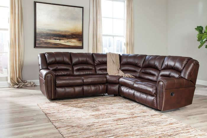 Lovable Ashley Two Piece Sectional Signature Design Ashley Manzanola Chocolate 2 Piece Sectional Sofa