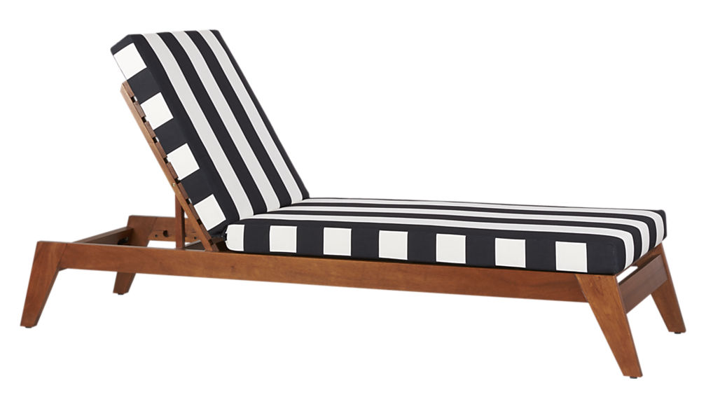 Lovable Black And White Chaise Filaki Waterproof Lounger Cover Cb2