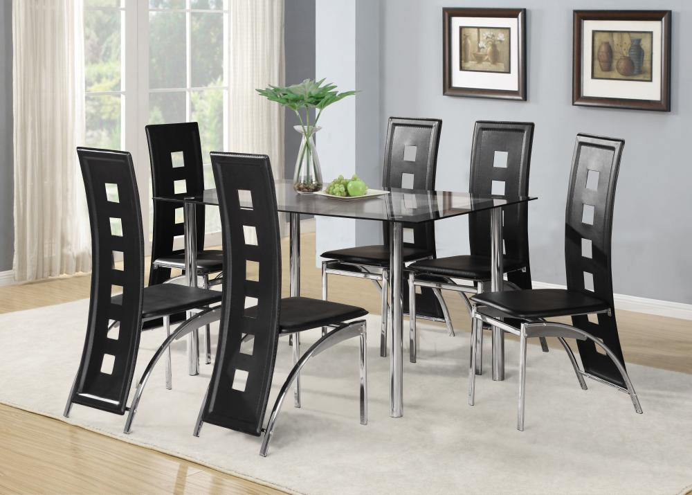 Lovable Black Dining Table And Chairs Set Dining Room Black Glass Dining Room Sets Glass Metal Dining Table