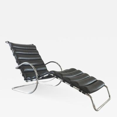 Lovable Black Leather Chaise Lounge Ludwig Mies Van Der Rohe Black Leather Mr Chaise Lounge Chair