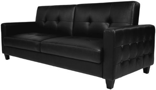 Lovable Black Leather Futon Couch New Black Leather Futon Couch 54 With Additional Sofas And Couches
