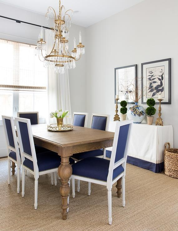 Lovable Blue And White Dining Chairs Dining Room Gray Acai Table With Blue French Chairs And White Best