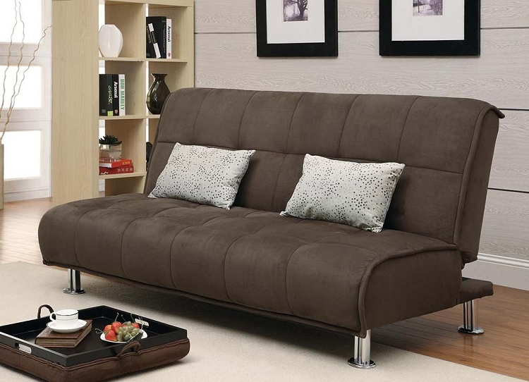 Lovable Brown Futon Sofa Bed Brown Futon Sofa Bed