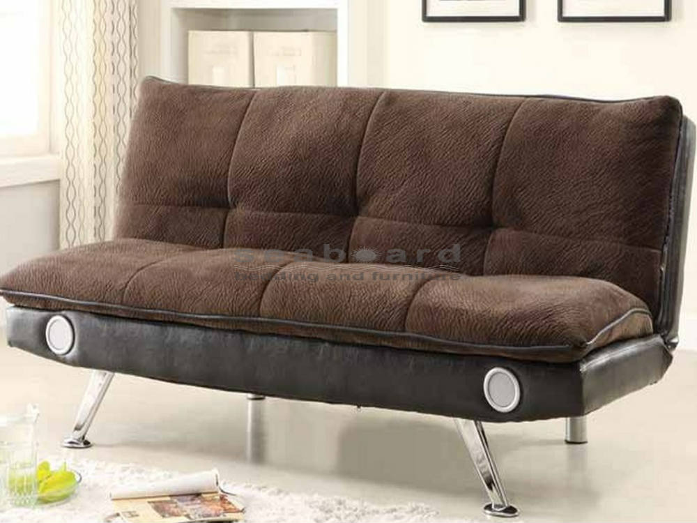 Lovable Brown Futon Sofa Bed Coaster 500047 Dark Brown Bluetooth Pillow Top Sofa Bed Futon