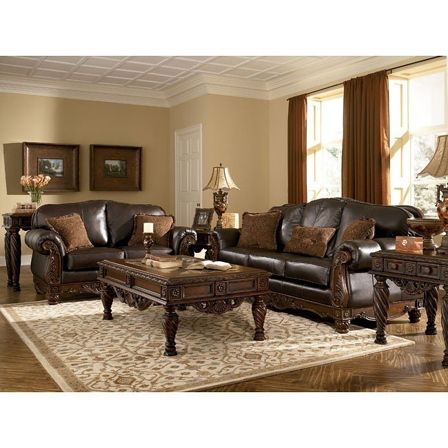 Lovable Brown Living Room Furniture Sets North Shore Dark Brown Living Room Set Millennium Furniture Cart