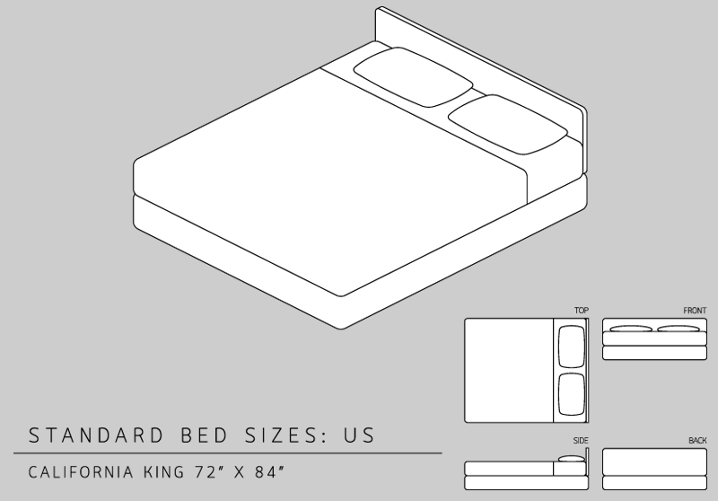 Lovable California King Bed Dimensions King Size Bed Dimensions Measurements California King Vs King