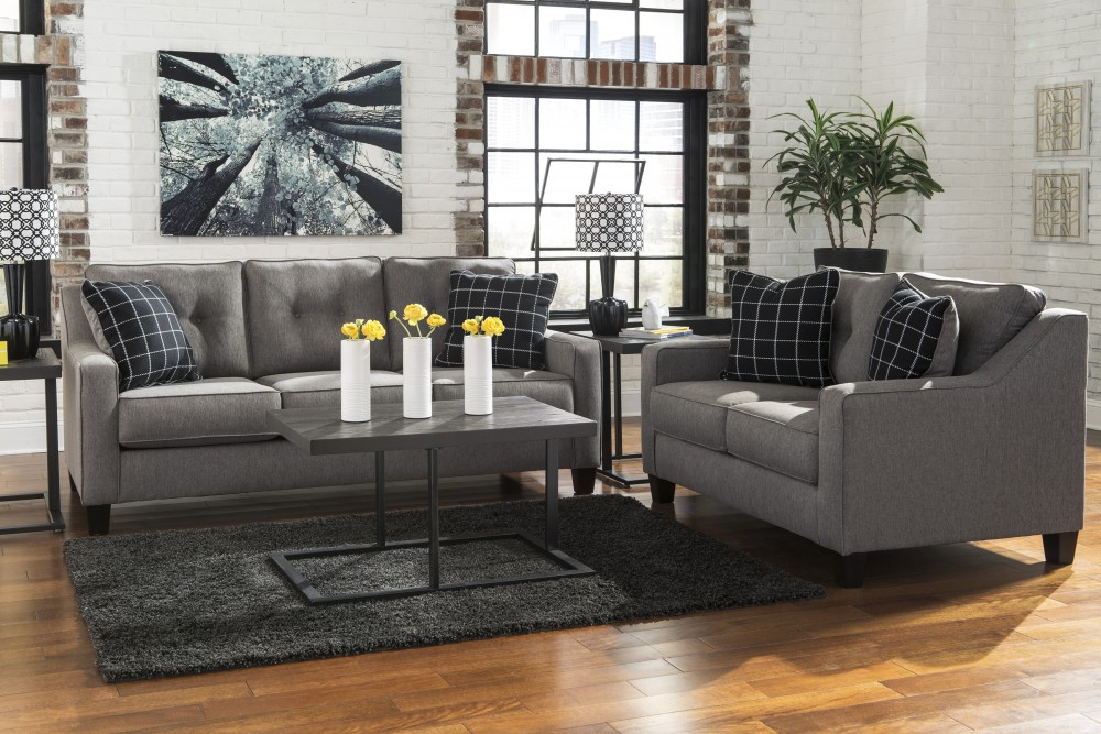 Lovable Charcoal Grey Sofa And Loveseat Brindon Charcoal Sofa Loveseat 539013835 Living Room