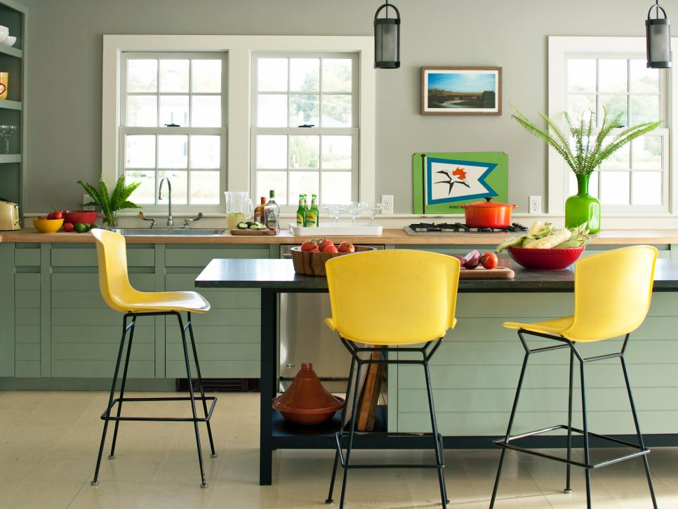 Lovable Colored Chairs For Kitchen 25 Colorful Kitchens Hgtv
