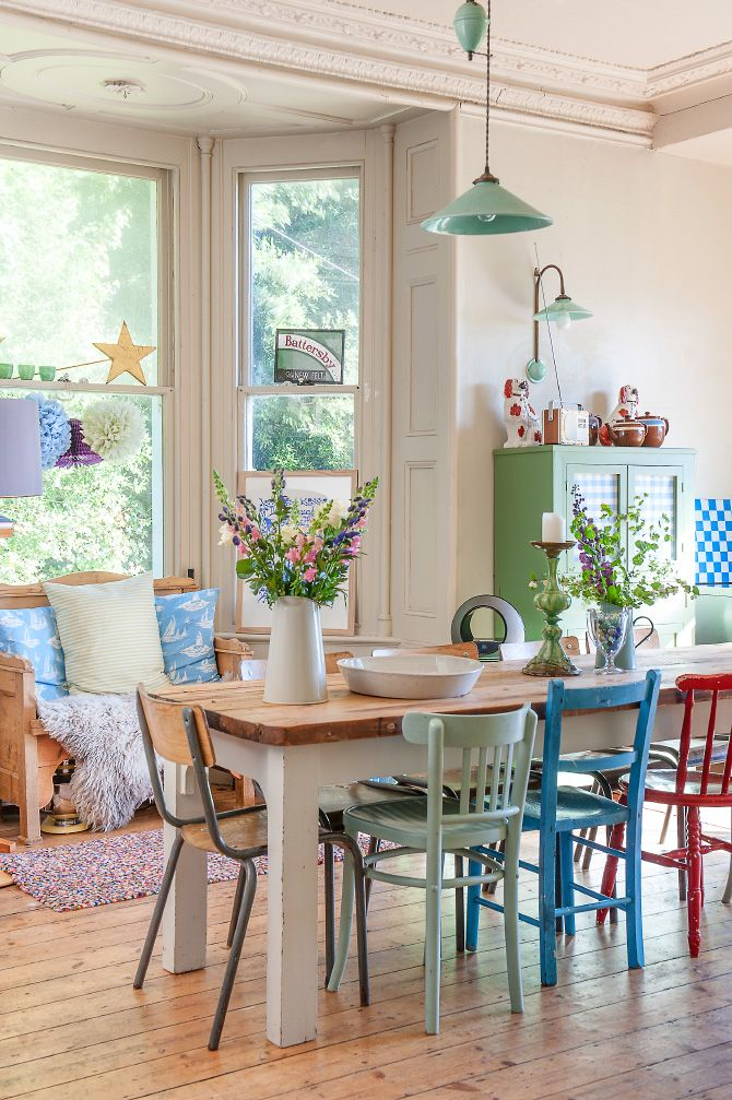 Lovable Colored Chairs For Kitchen Best 25 Painted Dining Chairs Ideas On Pinterest Dining Chair