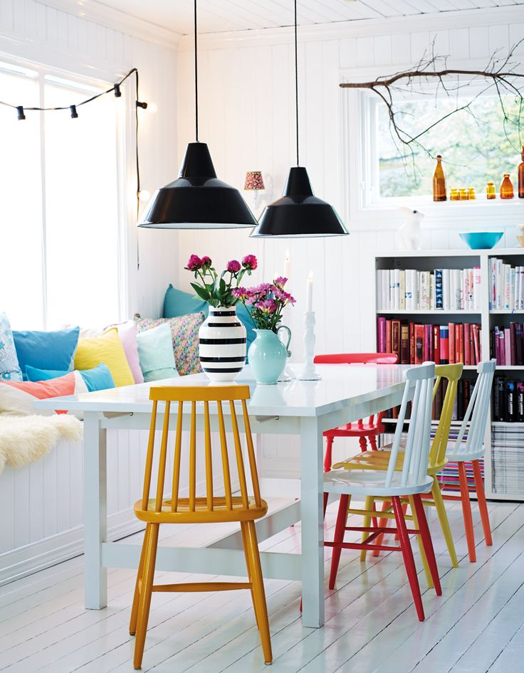 Lovable Colorful Dining Chairs Perfect Painted Dining Chairs With 25 Best Ideas About Painted