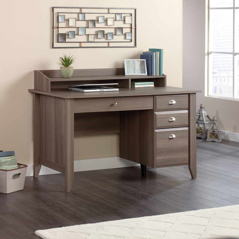 Lovable Compact Office Furniture Sauder Shoal Creek Compact Home Office Desk Diamond Ash Finish