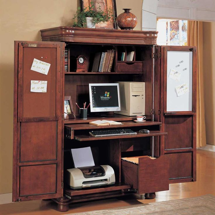 Lovable Computer Cabinet Desk Best 25 Computer Armoire Ideas On Pinterest Craft Armoire