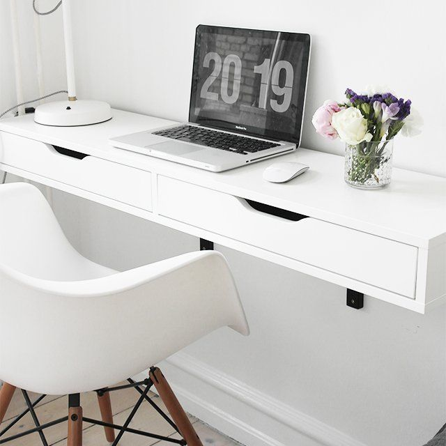 Lovable Computer Desk For Small Area Best 25 Wall Mounted Desk Ikea Ideas On Pinterest Ikea Wall