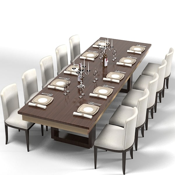 Lovable Contemporary Rectangular Dining Table Dining Table 3d Model