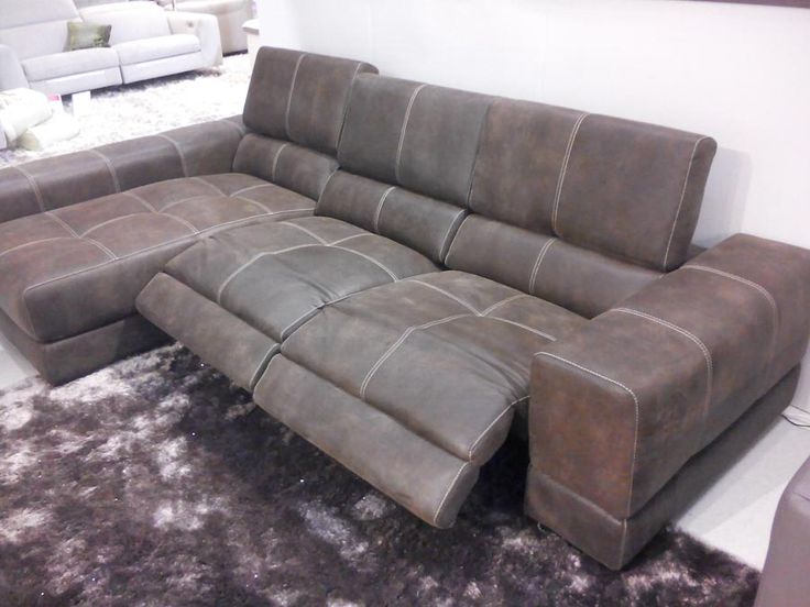 Lovable Couch With Chaise And Recliner Sake Electric Reclining Sofa With Chaise Lounge Sofa In Old West