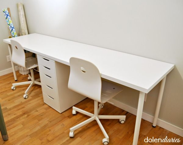Lovable Double Computer Desk Workstation Best 25 Two Person Desk Ideas On Pinterest 2 Person Desk Home