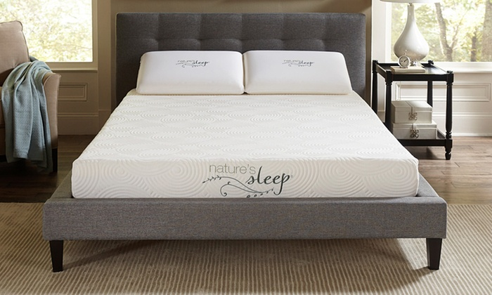 Lovable Foundation For Memory Foam Mattress King Natures Sleep Cool Iq 8 Gel Infused Memory Foam Mattress Groupon