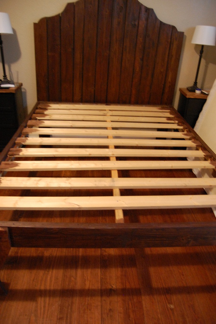 Lovable Full Size Wood Slat Bed Frame How To Build A Wooden Bed Frame 22 Interesting Ways Guide Patterns